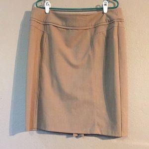 Brown New York & Company Size 16 Midi Skirt